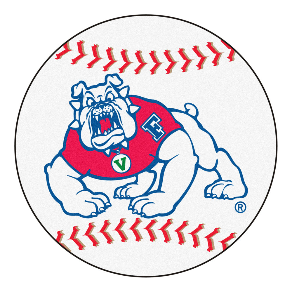 "27"" Round Fresno State Bulldogs Baseball Mat"