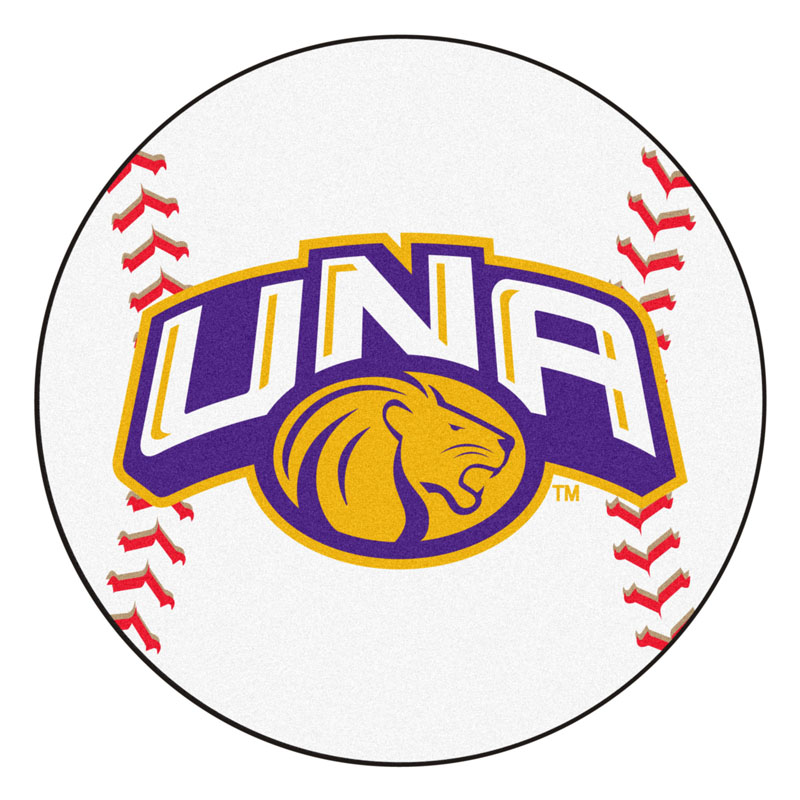 "27"" Round North Alabama Lions Baseball Mat"