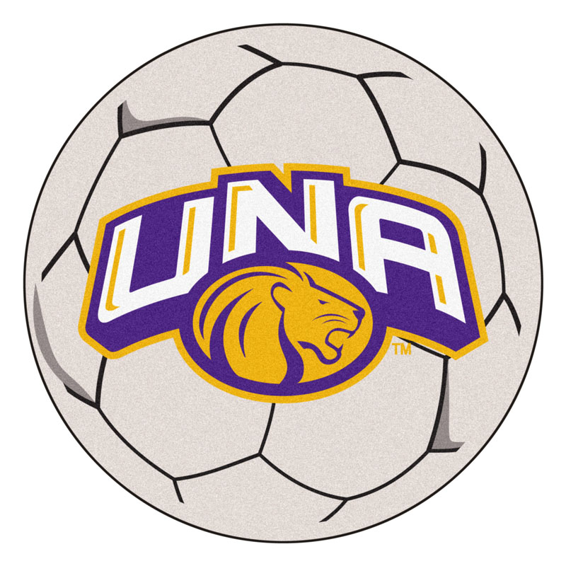 "27"" Round North Alabama Lions Soccer Mat"
