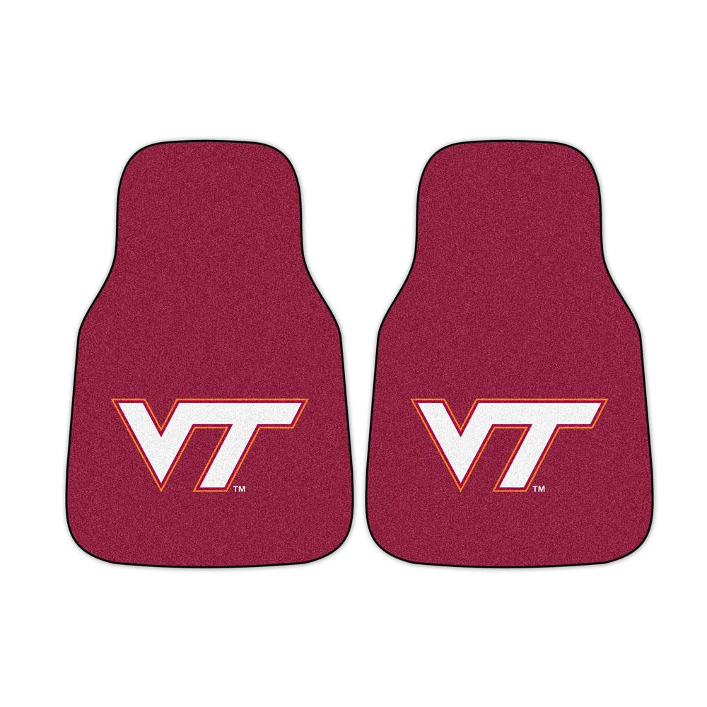 "Virginia Tech Hokies 27"" x 18"" Auto Floor Mat (Set of 2 Car Mats)"