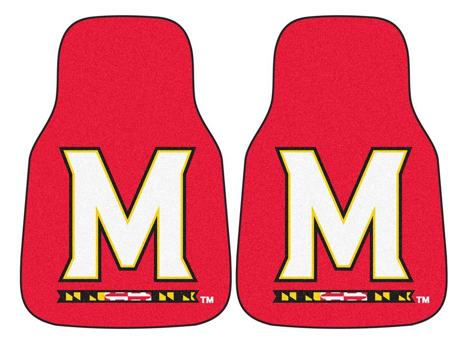 "Maryland Terrapins 27"" x 18"" Auto Floor Mat (Set of 2 Car Mats)"