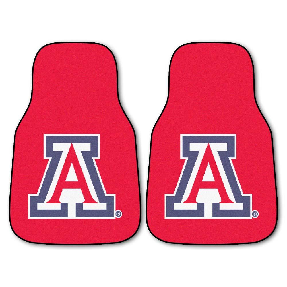 "Arizona Wildcats 27"" x 18"" Auto Floor Mat (Set of 2 Car Mats)"