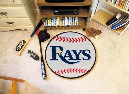 "27"" Round Tampa Bay Rays Baseball Mat"