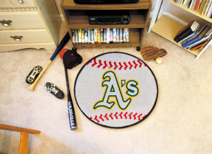 27 inch Round Oakland Athletics Baseball Mat