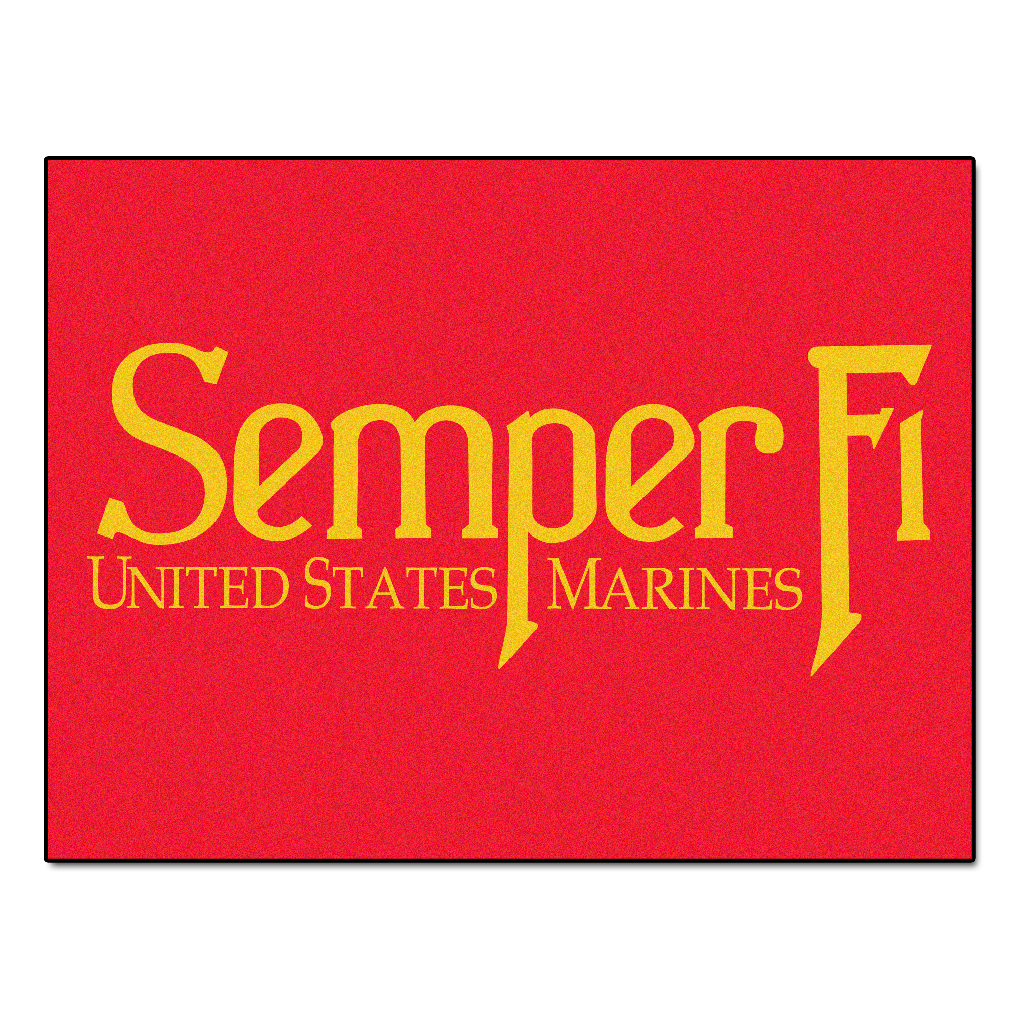 "Image of US Marines 34"" x 45"" All Star Floor Mat"