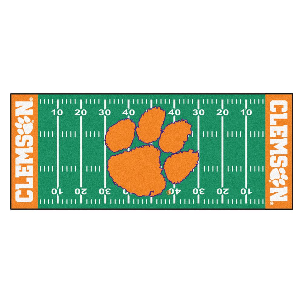 """Clemson Tigers 30"""" x 72"""" Football Field Runner"""