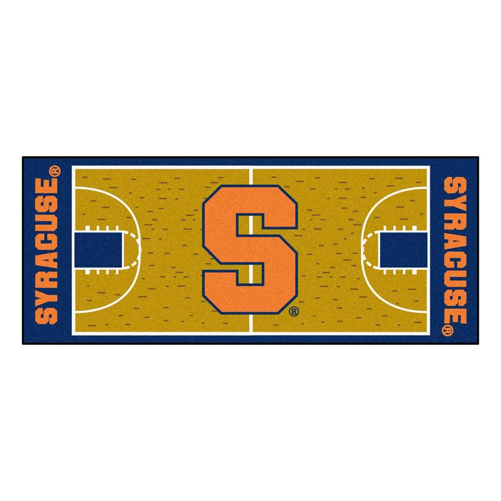 """Syracuse Orangemen 30"""" x 72"""" Basketball Court Runner"""