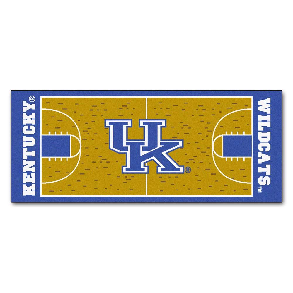 """Kentucky Wildcats 30"""" x 72"""" Basketball Court Runner (with """"UK"""")"""