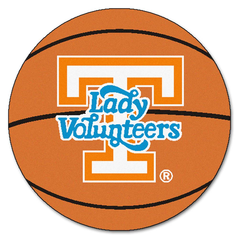 """Tennessee Lady Volunteers 27"""" Round Basketball Mat"""