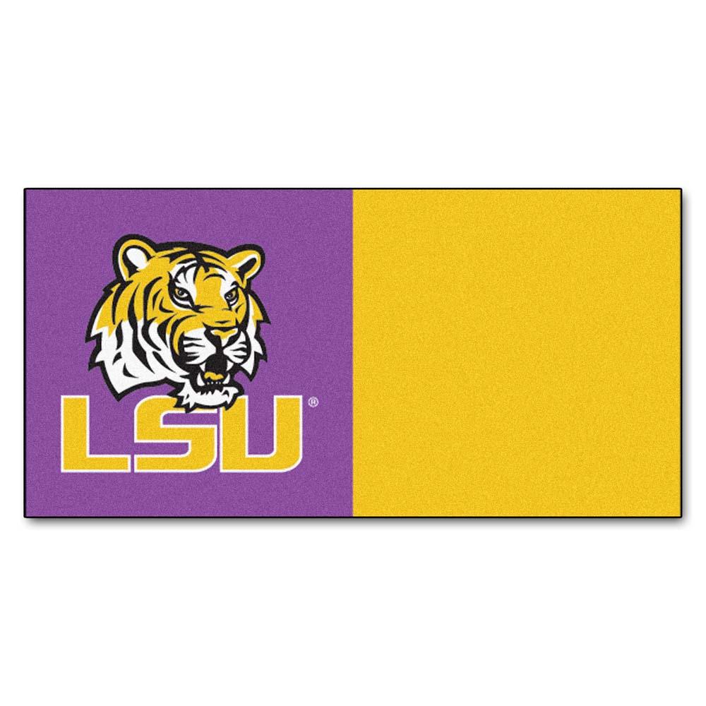 "Louisiana State (LSU) Tigers 18"" x 18"" Carpet Tiles (Box of 20)"