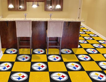 "Pittsburgh Steelers 18"" x 18"" Carpet Tiles (Box of 20)"