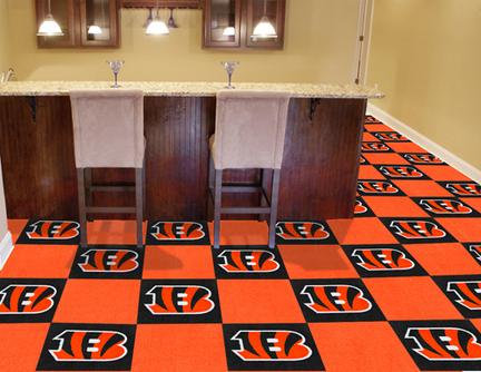 "Cincinnati Bengals 18"" x 18"" Carpet Tiles (Box of 20)"