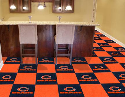 """Chicago Bears 18"""" x 18"""" Carpet Tiles (Box of 20)"""