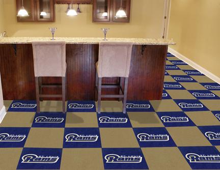 """St. Louis Rams 18"""" x 18"""" Carpet Tiles (Box of 20)"""