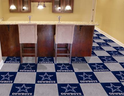 "Dallas Cowboys 18"" x 18"" Carpet Tiles (Box of 20)"