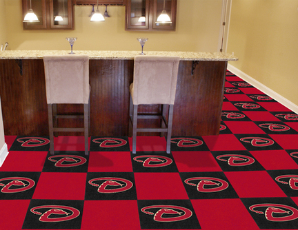 Arizona Diamondbacks 18in x 18in Carpet Tiles (Box of 20)