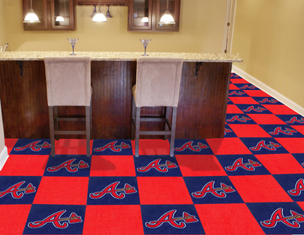 Atlanta Braves 18in x 18in Carpet Tiles (Box of 20)