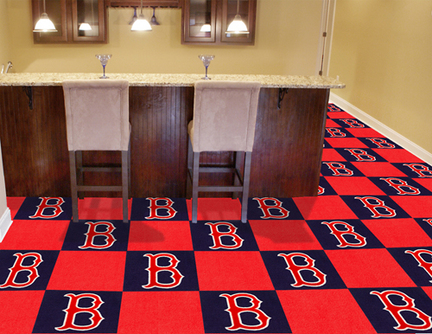 Boston Red Sox 18in x 18in Carpet Tiles (Box of 20)