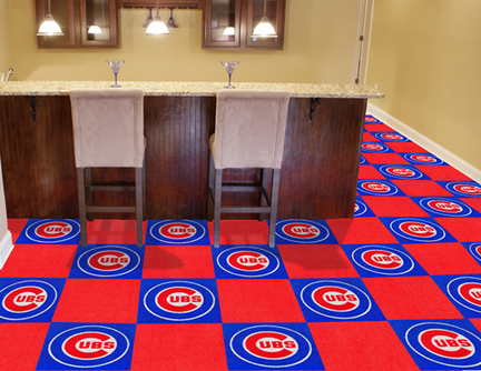 Chicago Cubs 18in x 18in Carpet Tiles (Box of 20)