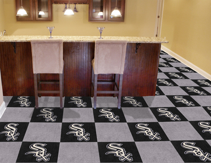 Chicago White Sox 18in x 18in Carpet Tiles (Box of 20)