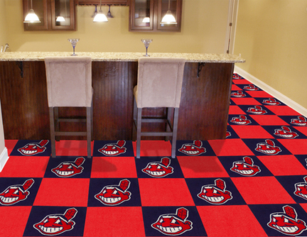 Cleveland Indians 18in x 18in Carpet Tiles (Box of 20)