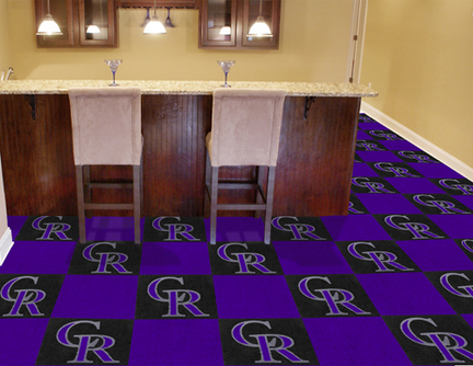Colorado Rockies 18in x 18in Carpet Tiles (Box of 20)