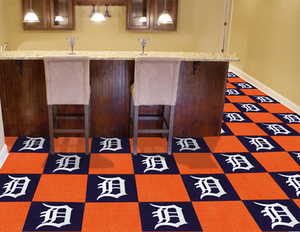 Detroit Tigers 18in x 18in Carpet Tiles (Box of 20)