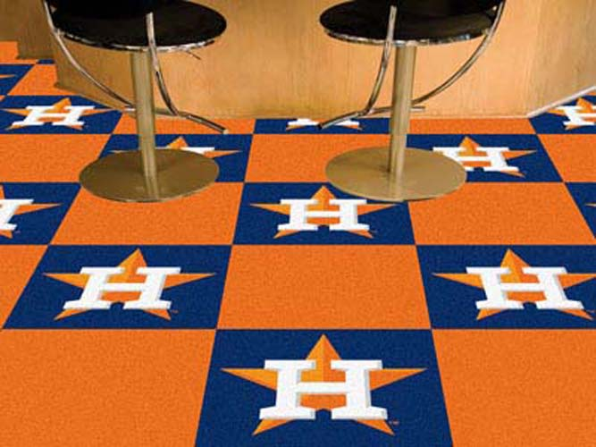 "Houston Astros 18"" x 18"" Carpet Tiles (Box of 20)"