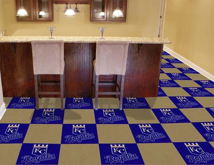 Kansas City Royals 18in x 18in Carpet Tiles (Box of 20)