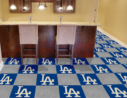 Los Angeles Dodgers 18in x 18in Carpet Tiles (Box of 20)