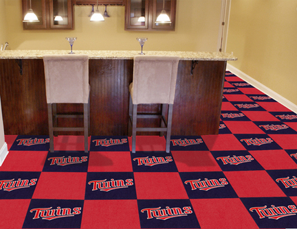 Minnesota Twins 18in x 18in Carpet Tiles (Box of 20)