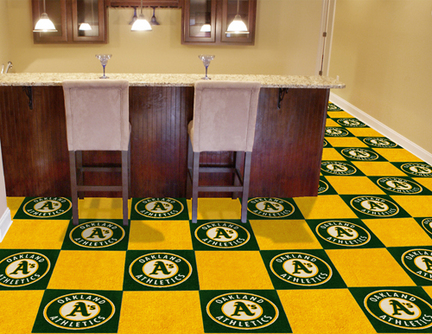 Oakland Athletics 18in x 18in Carpet Tiles (Box of 20)