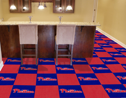 Philadelphia Phillies 18in x 18in Carpet Tiles (Box of 20)