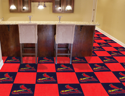 St. Louis Cardinals 18in x 18in Carpet Tiles (Box of 20)