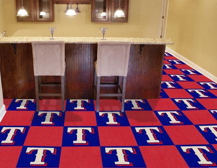 Texas Rangers 18in x 18in Carpet Tiles (Box of 20)