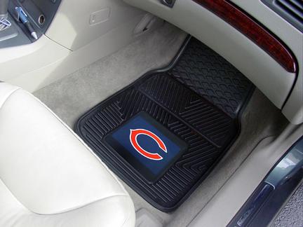 "Chicago Bears 18"" x 27"" Heavy Duty 2-Piece Vinyl Car Mat Set"