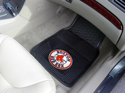 Boston Red Sox 18in x 27in Heavy Duty 2-Piece Vinyl Car Mat Set