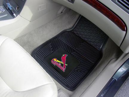 St. Louis Cardinals 18in x 27in Heavy Duty 2-Piece Vinyl Car Mat Set