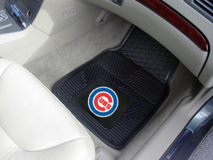 Chicago Cubs 18in x 27in Heavy Duty 2-Piece Vinyl Car Mat Set