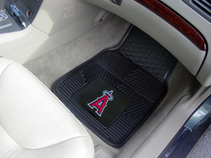 Los Angeles Angels of Anaheim 18in x 27in Heavy Duty 2-Piece Vinyl Car Mat Set