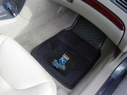 Kansas City Royals 18in x 27in Heavy Duty 2-Piece Vinyl Car Mat Set