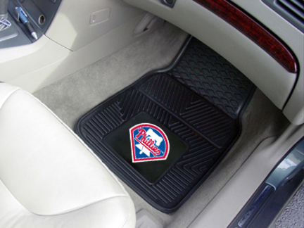 Philadelphia Phillies 18in x 27in Heavy Duty 2-Piece Vinyl Car Mat Set