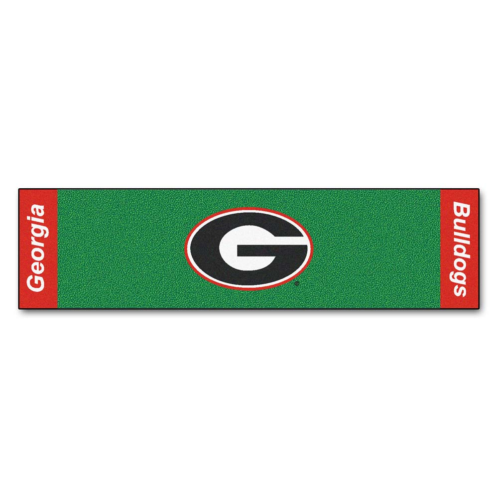 "Georgia Bulldogs 18"" x 72"" Putting Green Runner"