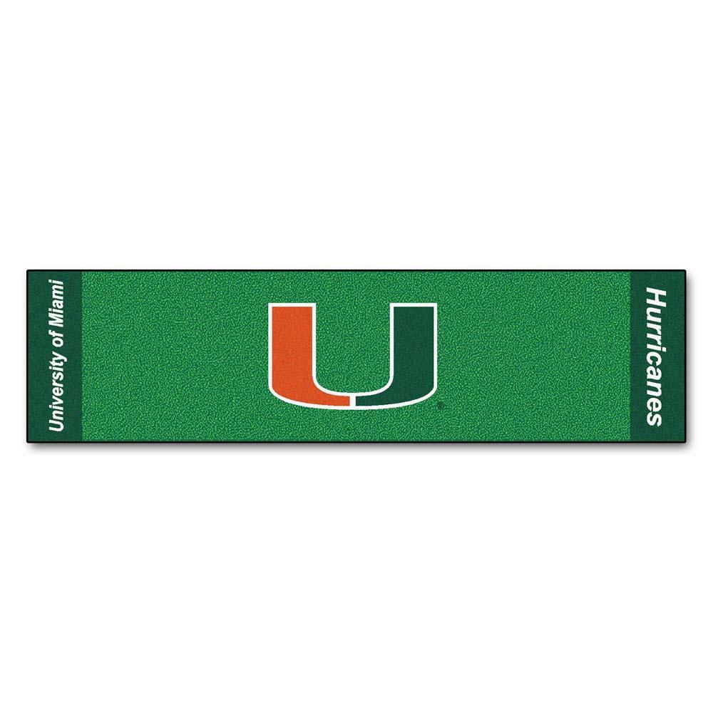"Miami Hurricanes 18"" x 72"" Putting Green Runner"