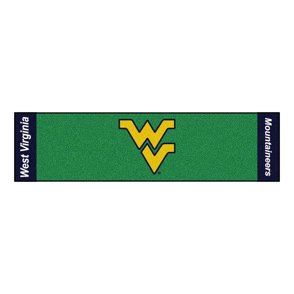 "West Virginia Mountaineers 18"""" x 72"""" Putting Green Runner"" FAN-9091"