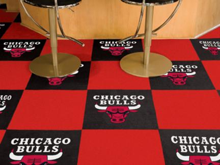 """Chicago Bulls 18"""" x 18"""" Carpet Tiles (Box of 20)"""