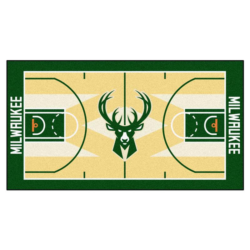 "Milwaukee Bucks 30"" x 54"" Basketball Court Runner"