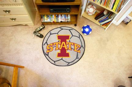 """27"""" Round Iowa State Cyclones Soccer Mat"""