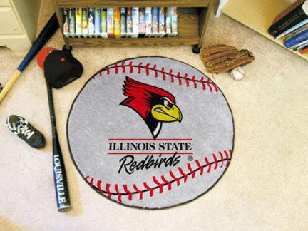 "27"" Round Illinois State Redbirds Baseball Mat"