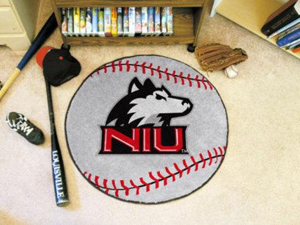 """27"""" Round Northern Illinois Huskies Baseball Mat"""